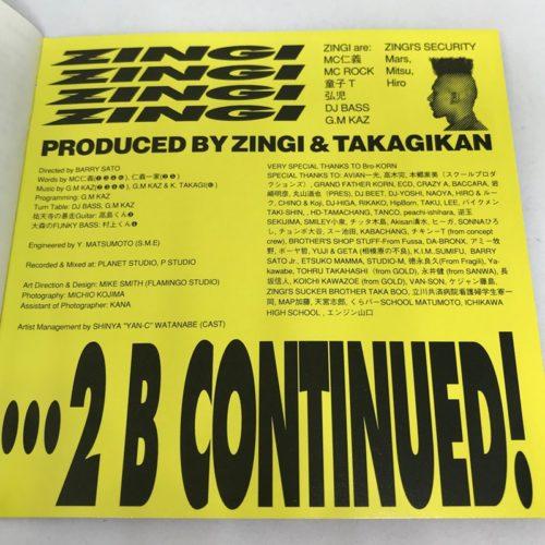 ZINGI / ZINGI クレジット